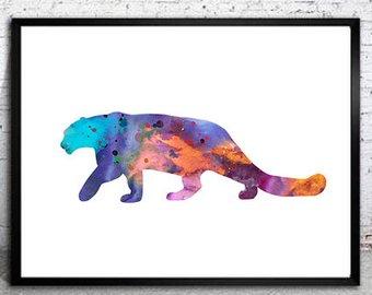 340x270 Snow Leopard Art Etsy