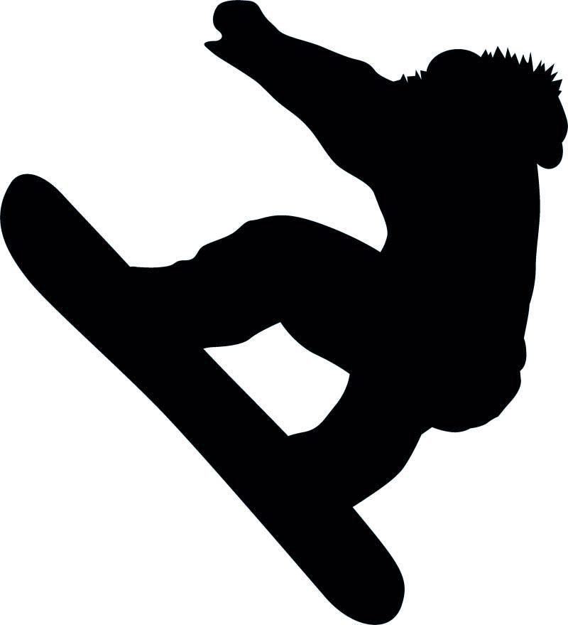 800x879 Snowboarding Silhouette