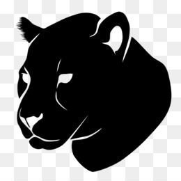 260x260 Black Panther Cougar Silhouette Clip Art