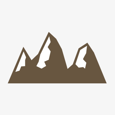400x400 Silhouette Icon, Mountain Silhouette, Mountain, Snow Mountain