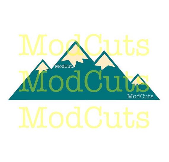 570x549 Geometric Mountains Svg File Download Cut Files Modern