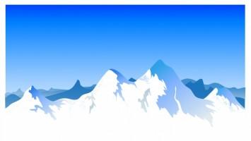 355x200 Mountain Range Background Clipart Vector Vector