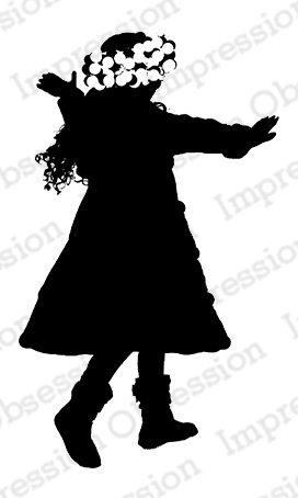 272x454 Impression Obsession Rubber Stamps Snow Twirl Silhouette
