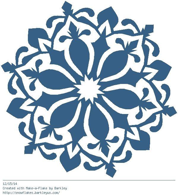 600x655 489 Best Snowflake Silhouettes, Vectors, Clipart, Svg, Templates