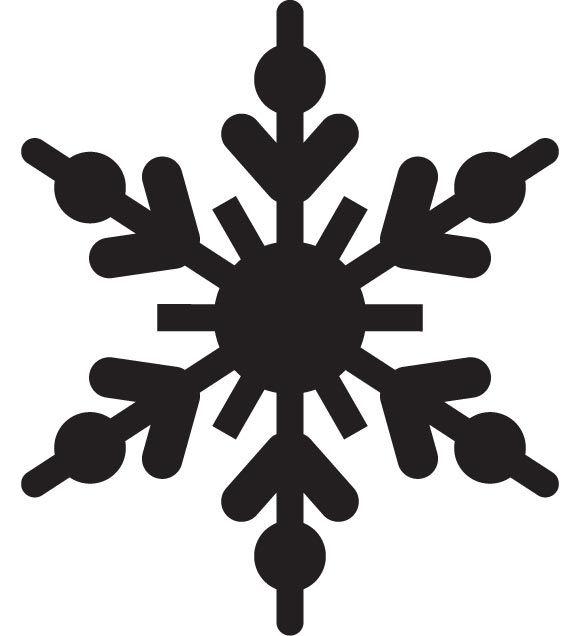 580x636 Vector Snowflake
