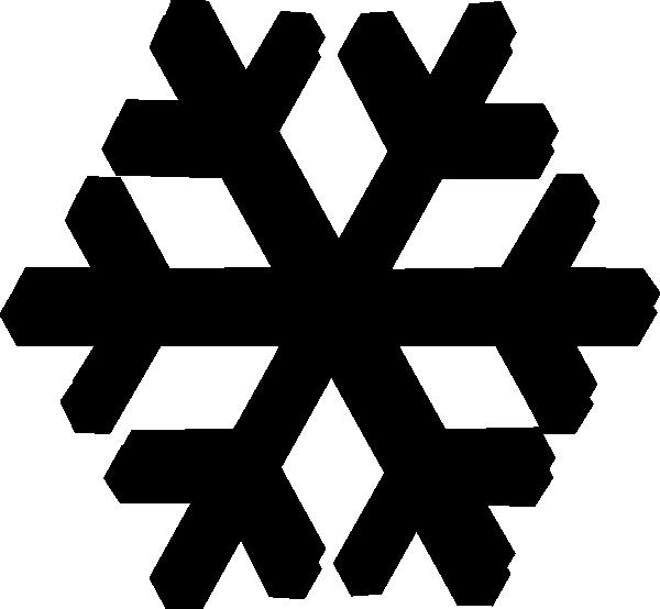 600x554 Black Snow Flake Clip Art