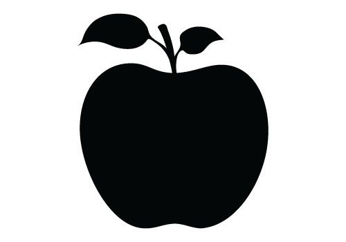 500x350 Apple Silhouette Vector Free Download Silhouette Clip Art