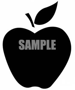 250x300 Clipart Of An Apple Silhouette
