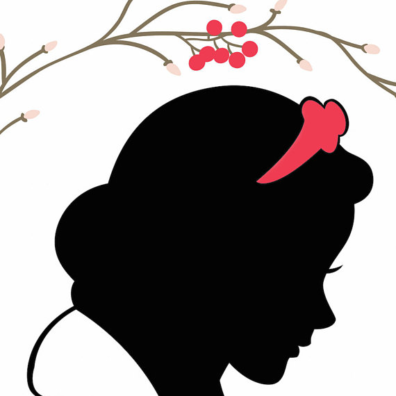 photograph relating to Disney Silhouette Printable called Snow White Silhouette Printable at  Absolutely free