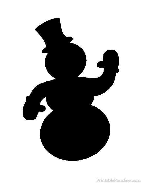 580x751 Snowman Silhouette