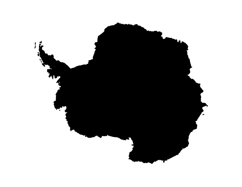 1500x1159 Blank Antarctica Map Printable