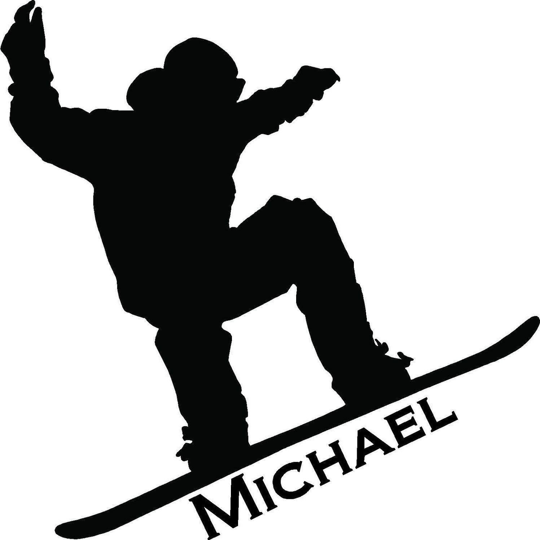 1497x1500 Personalized Custom Sports Snowboarder Wall Art Decor Vinyl Letter