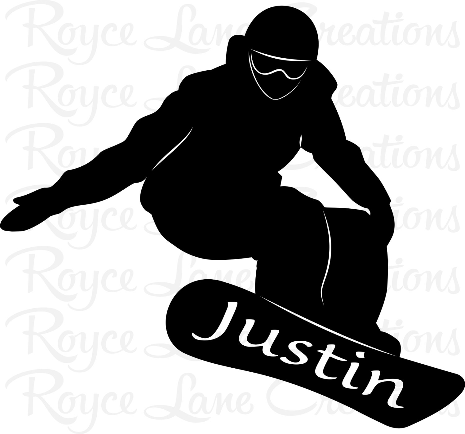 1500x1400 Snowboard Decal Snowboarder With Personalized Name Sports Vinyl