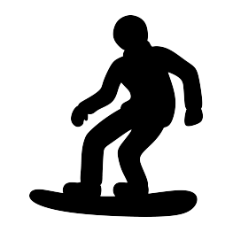 263x262 Snowboarder Silhouette Free Svg Mum Silhouette And Pdf