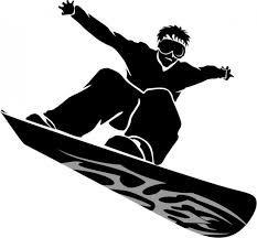 233x216 Snowboarder Silhouette Men's Fine Jersey T Shirt