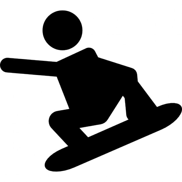 626x626 Extreme Snowboard Silhouette Icons Free Download