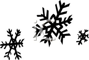 300x201 Silhouette Of Snowflakes Falling