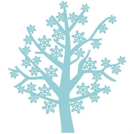 432x432 Snowflake Tree Free Svg Scrapbook Cut File Cute Clipart Files