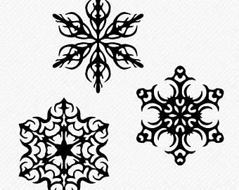 340x270 Snowflake Clipart Etsy