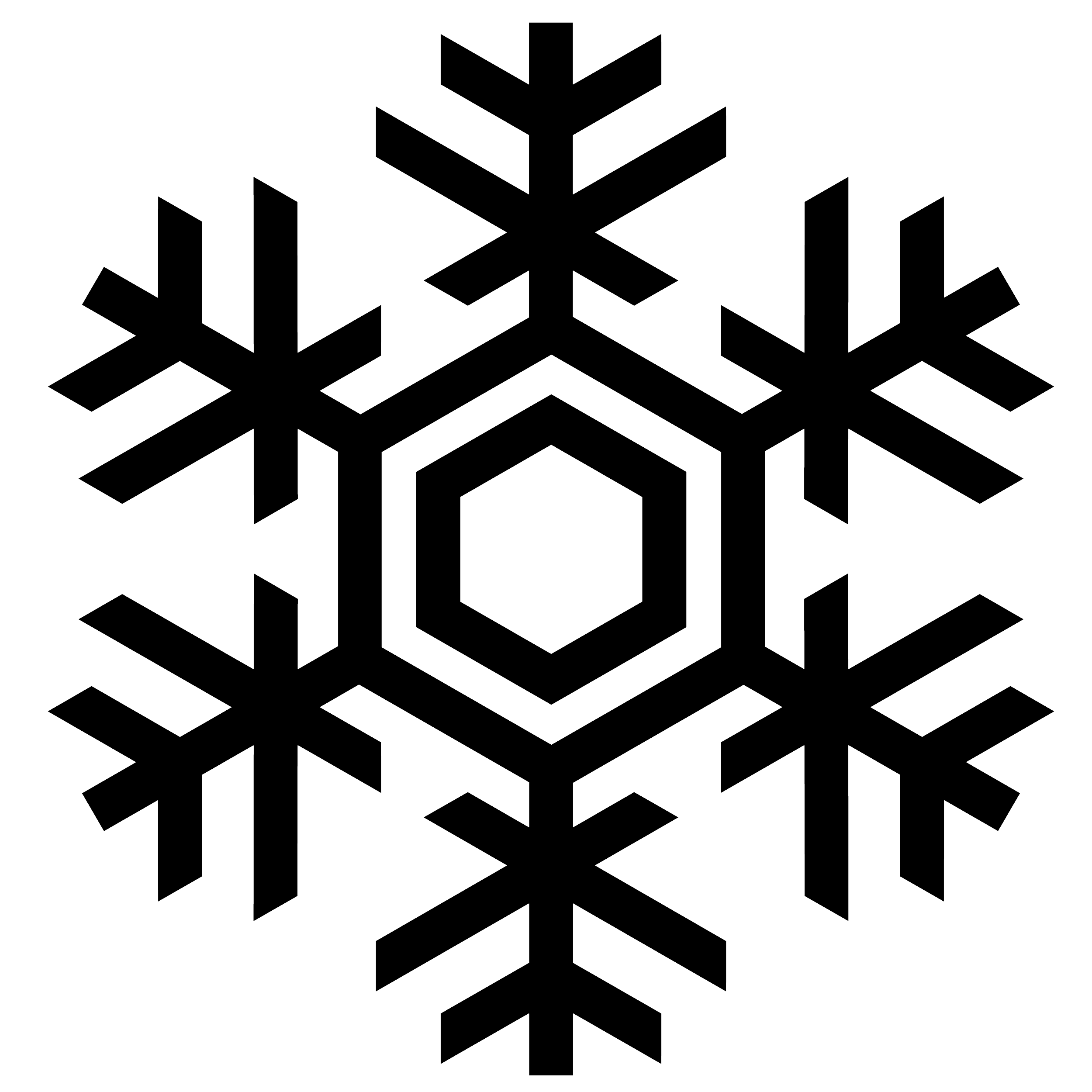 2500x2500 Snowflake Silhouette