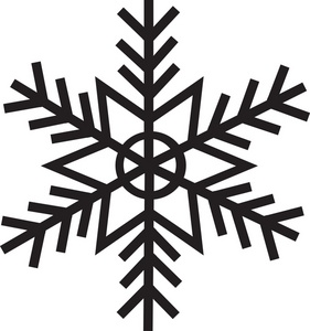 snowflake silhouette clip art at getdrawings com free for personal rh getdrawings com snowflake clipart free black white snowflake clipart free download