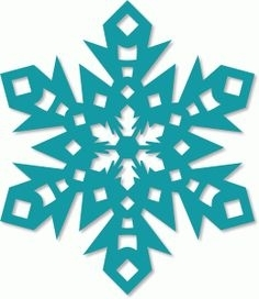 236x272 Frozen Snowflake Silhouette Scrapheap