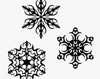 340x270 Snowflake Clipart Etsy
