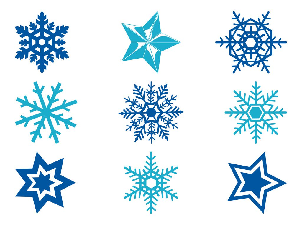 1024x765 Stars And Snowflakes Vector Art Amp Graphics