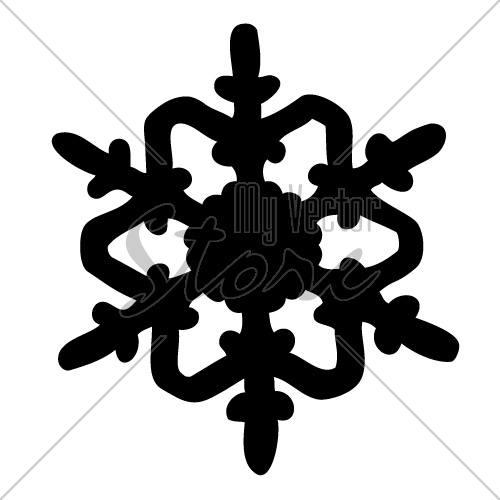 500x500 Vector Snowflake Silhouette