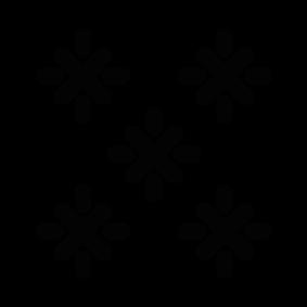 283x283 Snowflake Silhouette Silhouette Of Snowflake