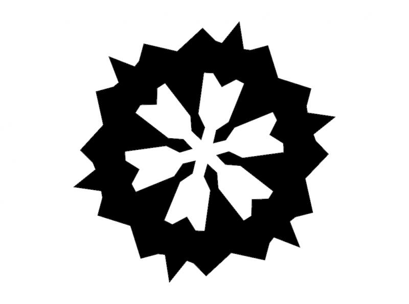 800x596 Snowflake Silhouette 3 Dxf File Free Download