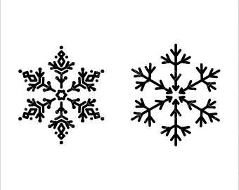 340x270 Snowflake Cut File Etsy