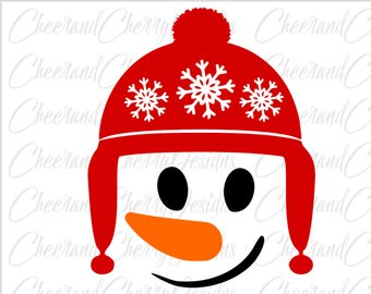 340x270 Snowman Face Iron On Etsy