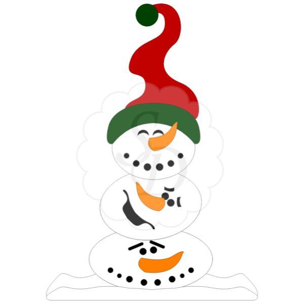 Snowman Silhouette Clip Art