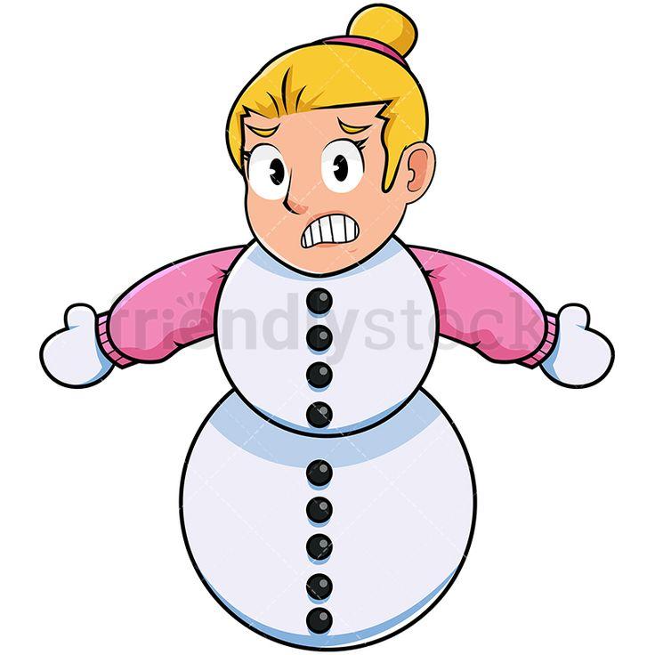 Snowman Silhouette Vector