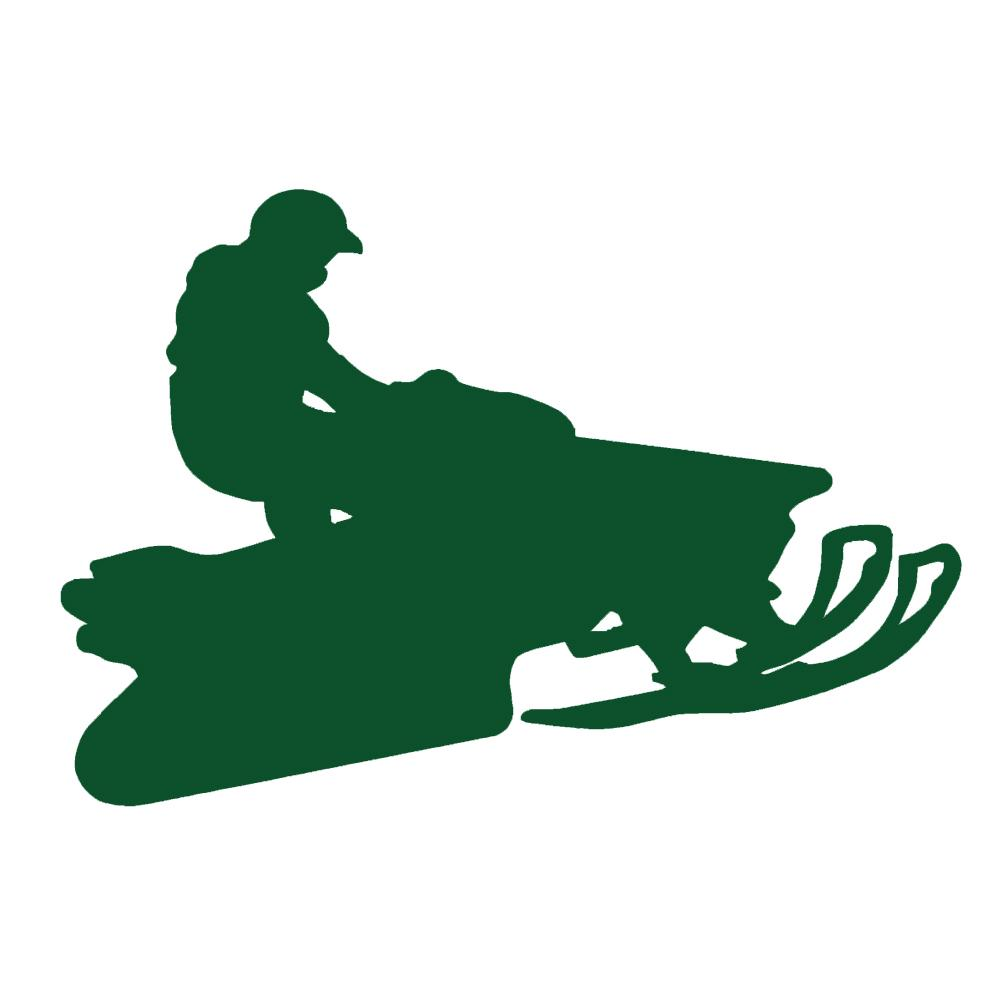 1001x1001 Snowmobile Jumper V1 Single Color Transfer Type Decal Stickerdad