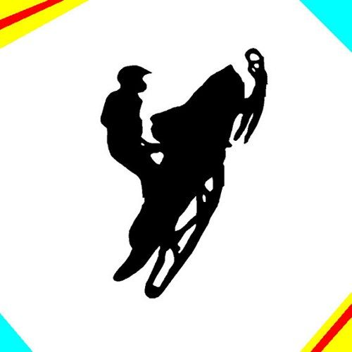 500x500 Trick Sled Or Snowmobile Jumping 6 Inch Decal Sticker Cafedecals