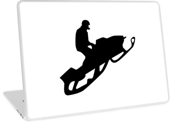 558x400 Snowmobile Silhouettes Laptop Skins By Asyrum Redbubble