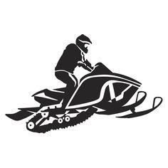 236x236 Snowmobile Stencil