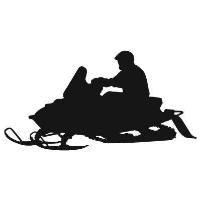 400x400 On The Trail Snowmobile Decal