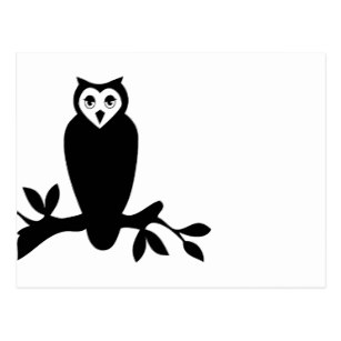 307x307 Hipster Owl Postcards Zazzle