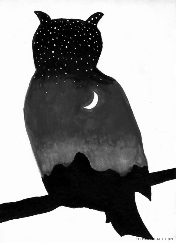581x800 Owl Silhouette Animal Free Black White Clipart Images Clipartblack