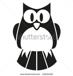 236x246 Cute Black And White Owl Posters, Art Prints Wijze Uilen