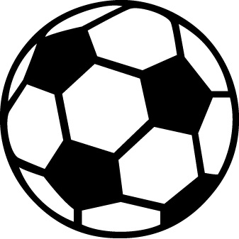 337x337 Silhouette Cameo Soccer Ball