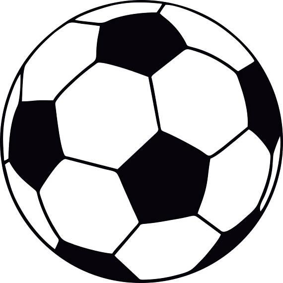 570x570 Soccer Ball Layered Svg Dxf Eps Silhouette Studio Transfer