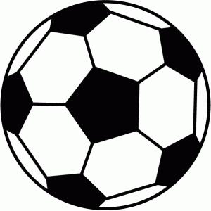 300x300 Soccer Ball Silhouette