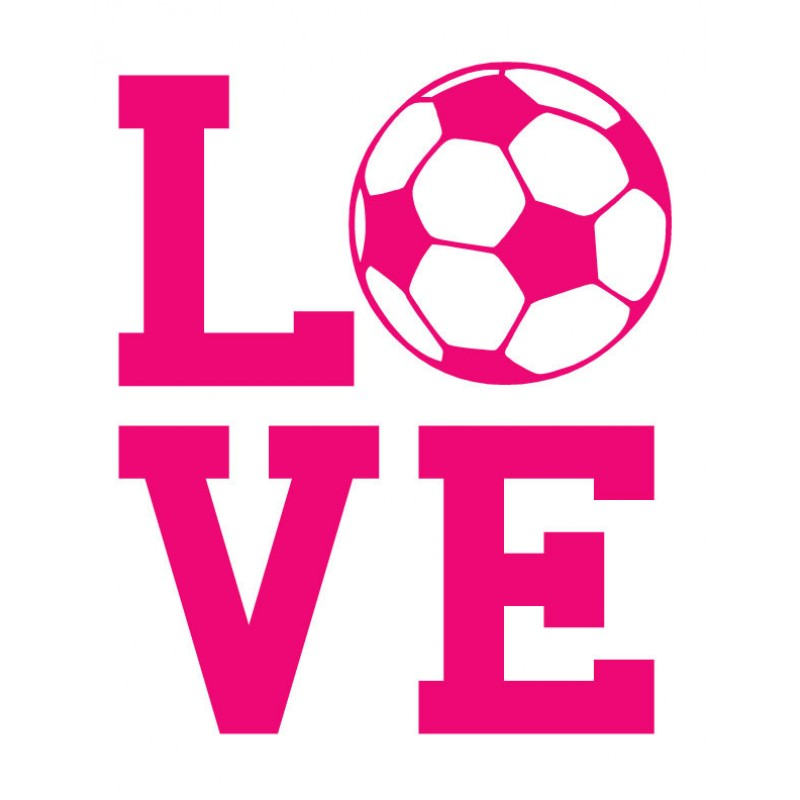 800x800 Love Soccer Wall Decal Sports Wall Decals, Walls