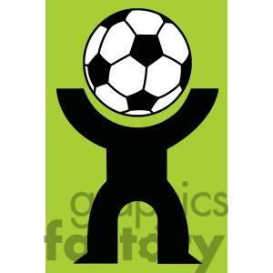 300x300 Silhouette Person With A Soccer Ball Head Soccer Clipart