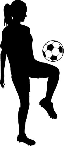 219x500 Soccer Girl Sports Silhouette Kid Room Decor Wall