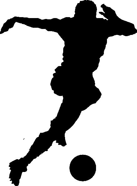438x597 Soccer Player Silhouette Clip Art